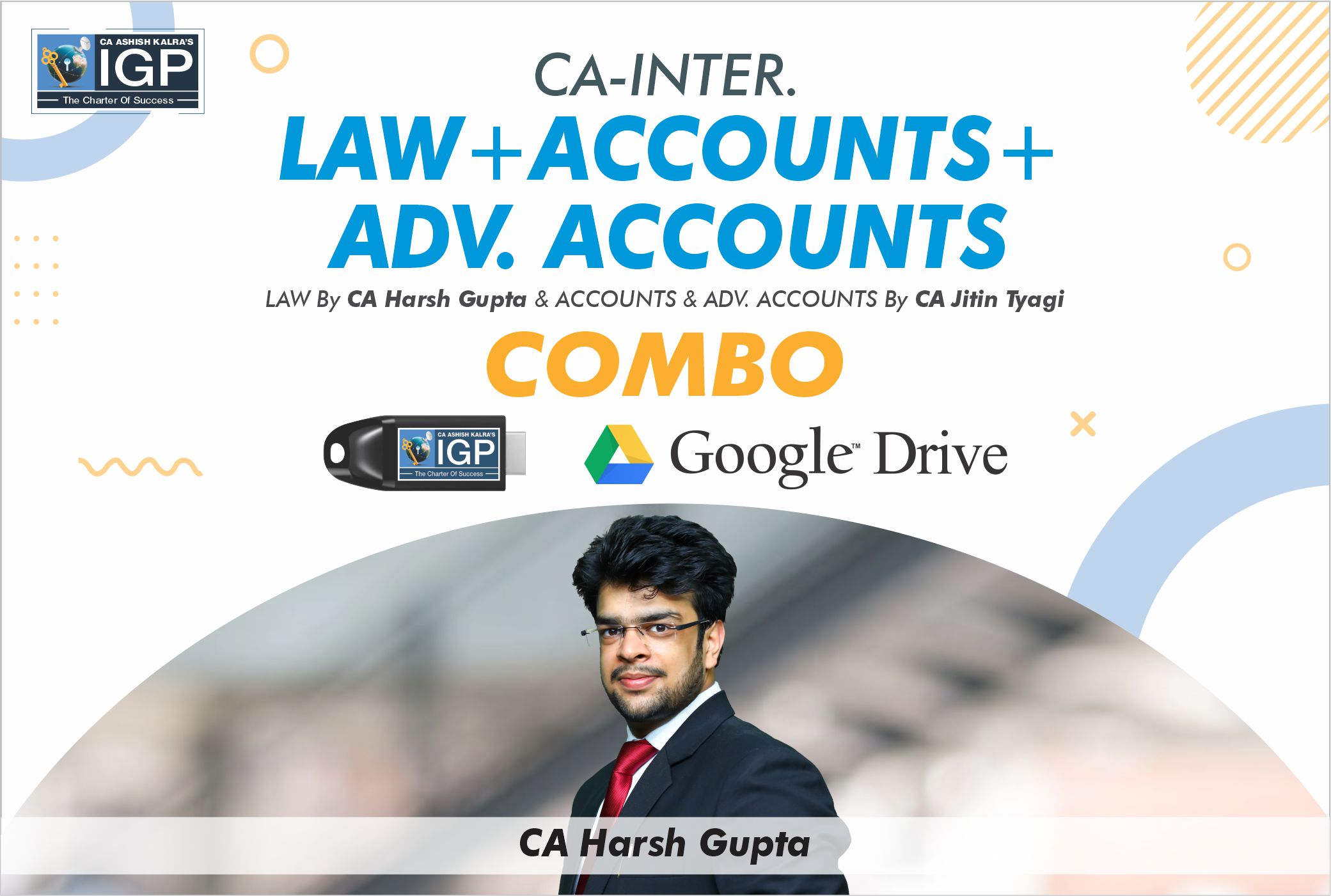 CA Inter - Law, Accounts & Adv. Accounts Combo
