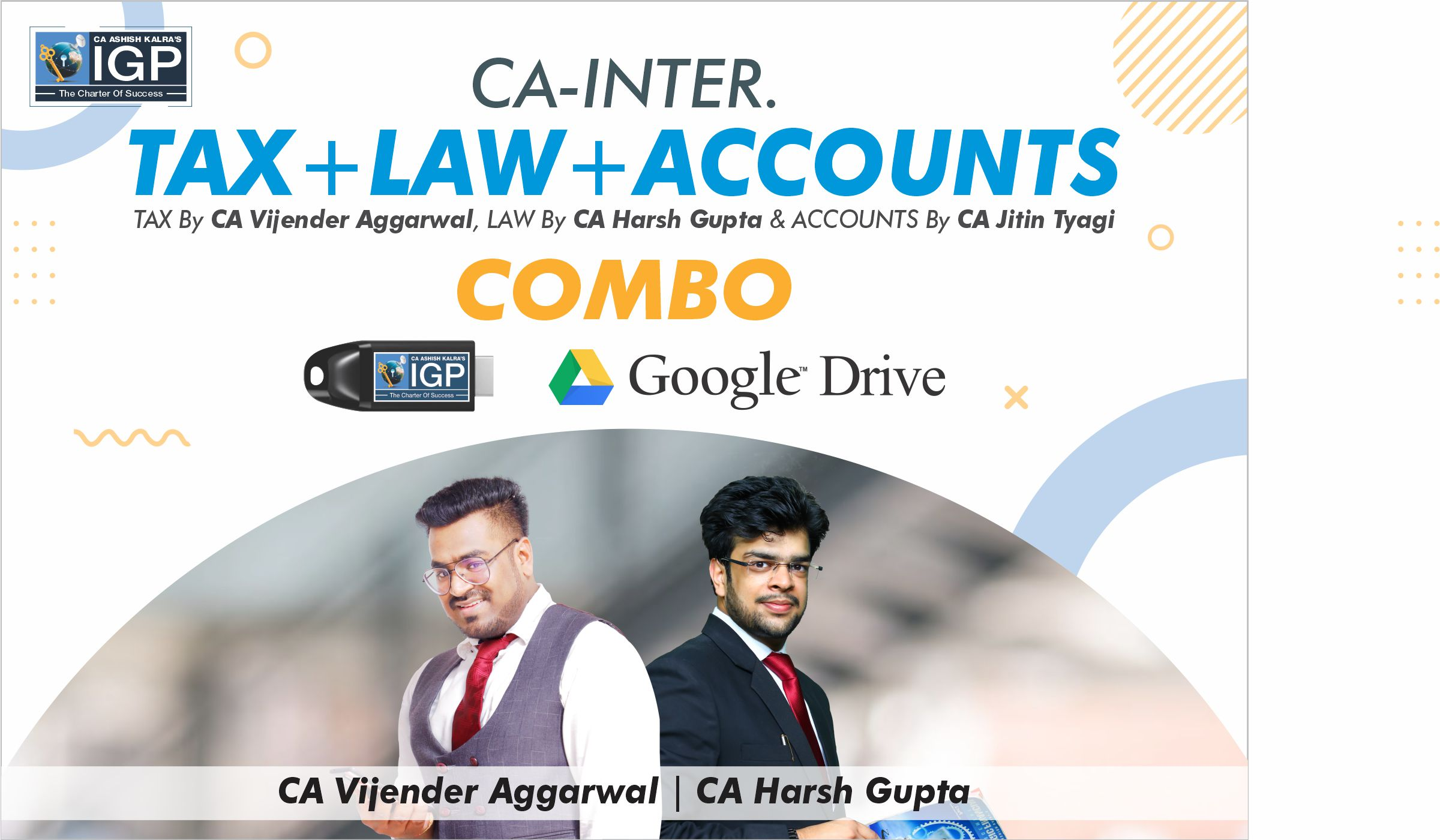 CA Inter -  IT + GST, Law & Accounts COmbo