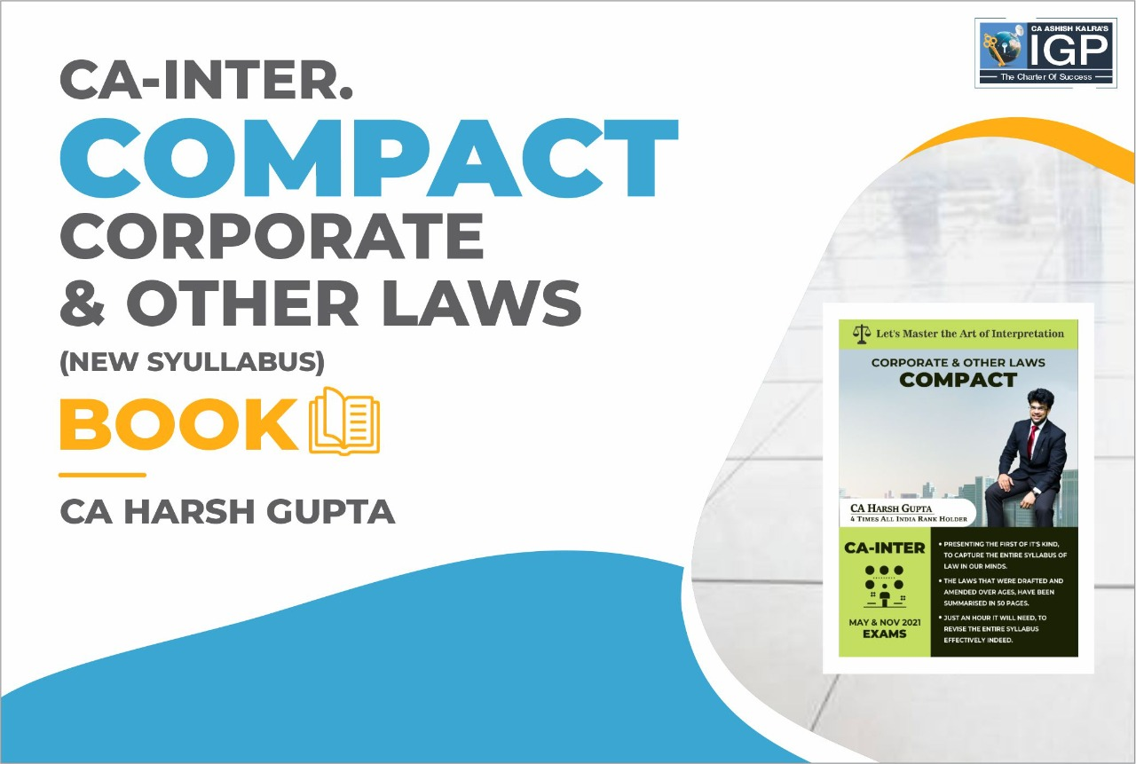 CA-Corporate Laws and Other Laws-CA Harsh Gupta