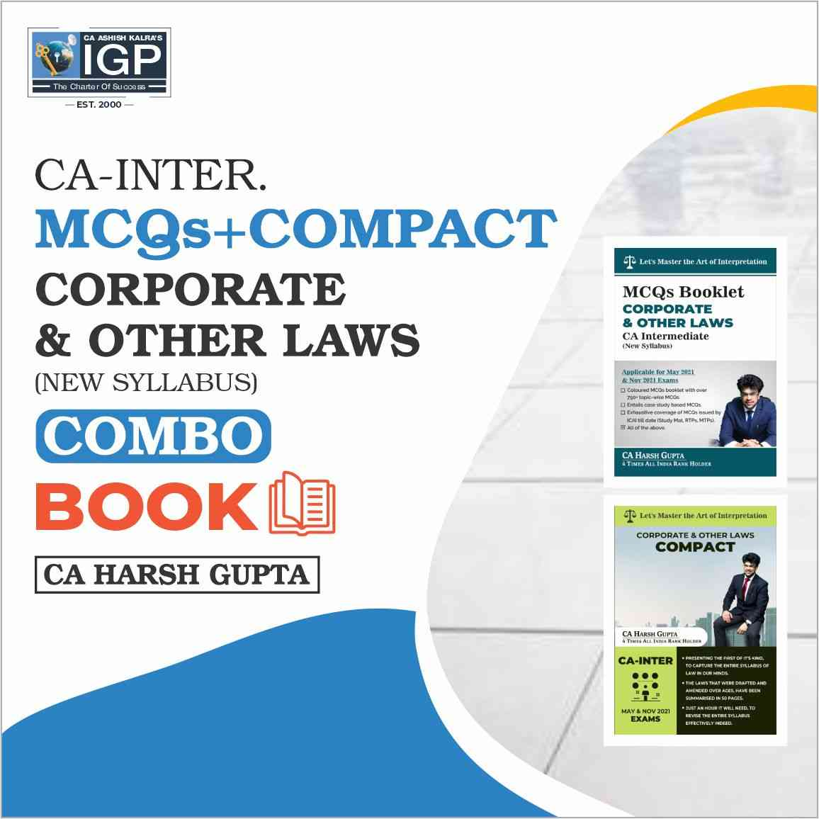 CA Inter - Compact book & MCQ Book (Corporate Law & Other Law)-CA-INTER-Corporate Laws and Other Laws- CA Harsh Gupta