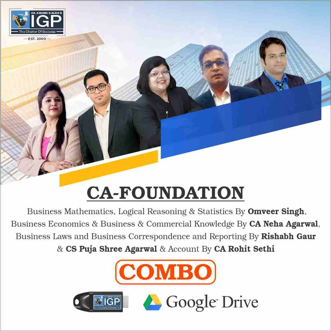 CA Foundation Pendrive Classes - All Subjects Combo - New Course