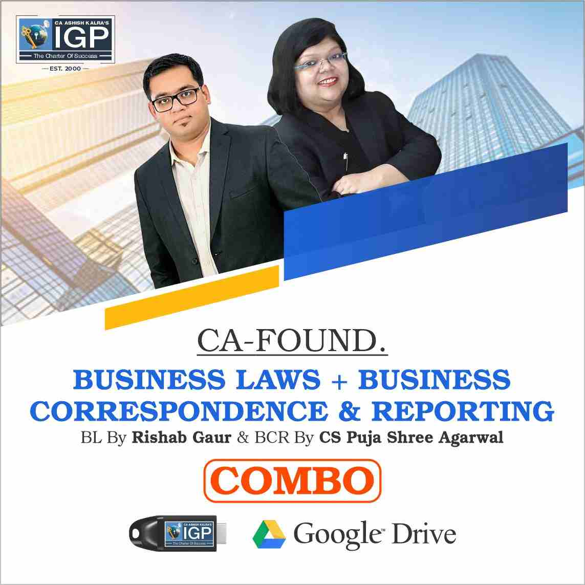 CA -Foundation- Business Laws and Business Correspondence and Reporting