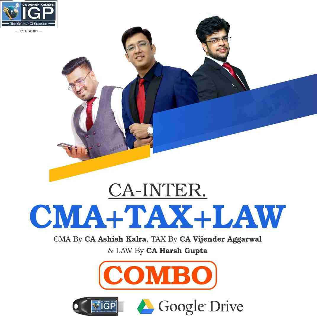 CA Inter - CMA, Law & IT + GST Combo