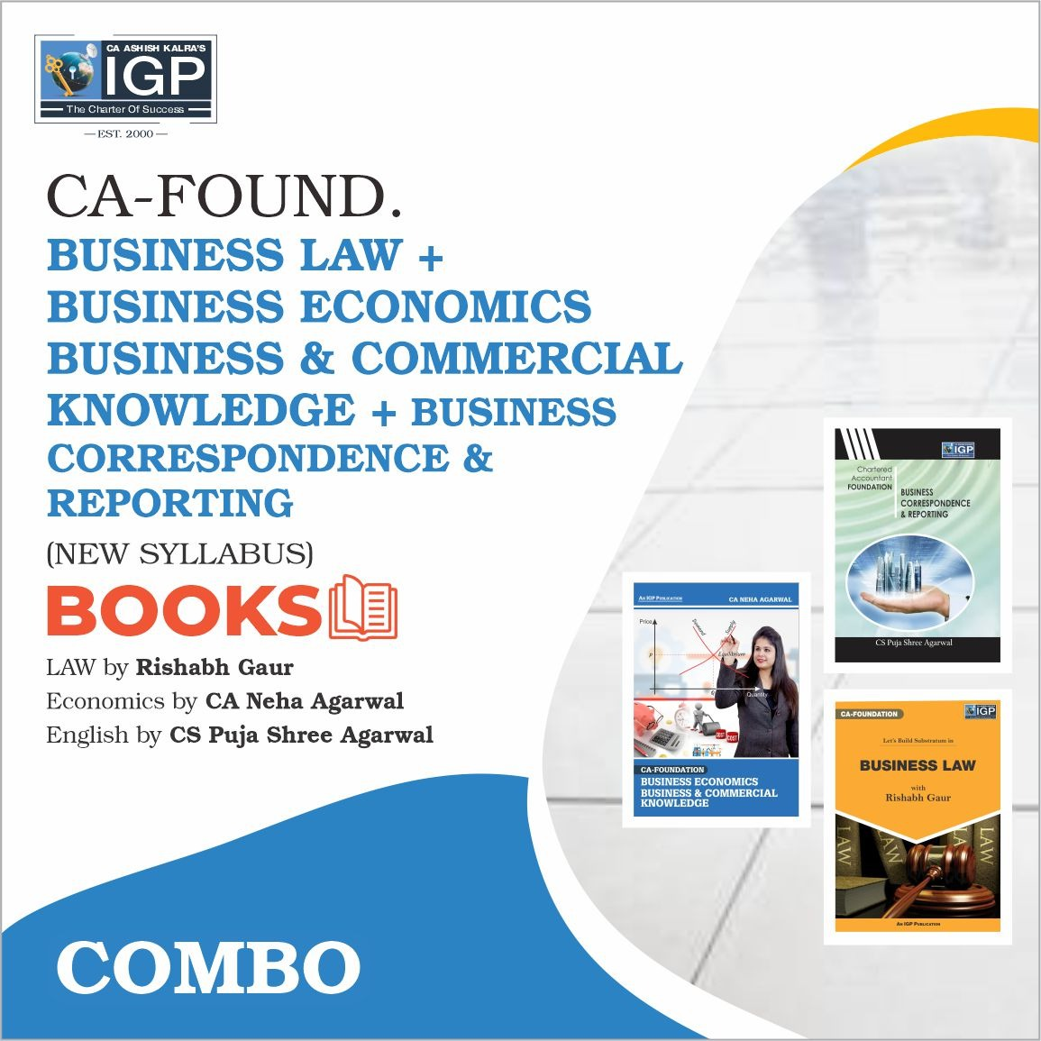CA -Foundation- Business Law, Business Eco & Business Correspondence