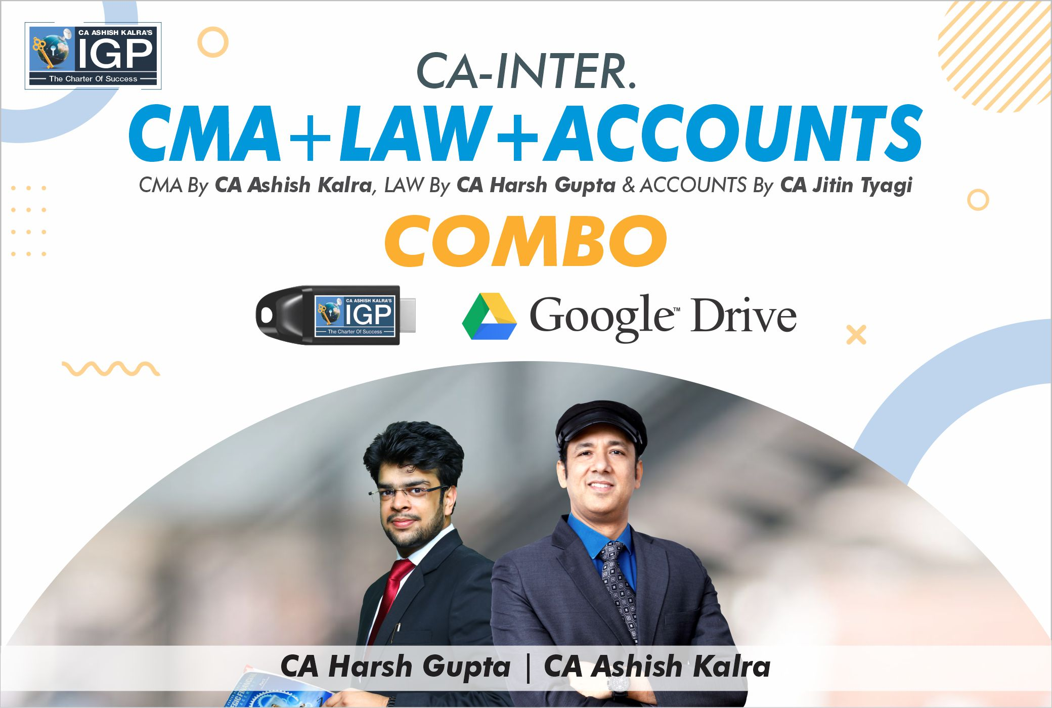CA Inter- CMA, Law & Accounts Combo