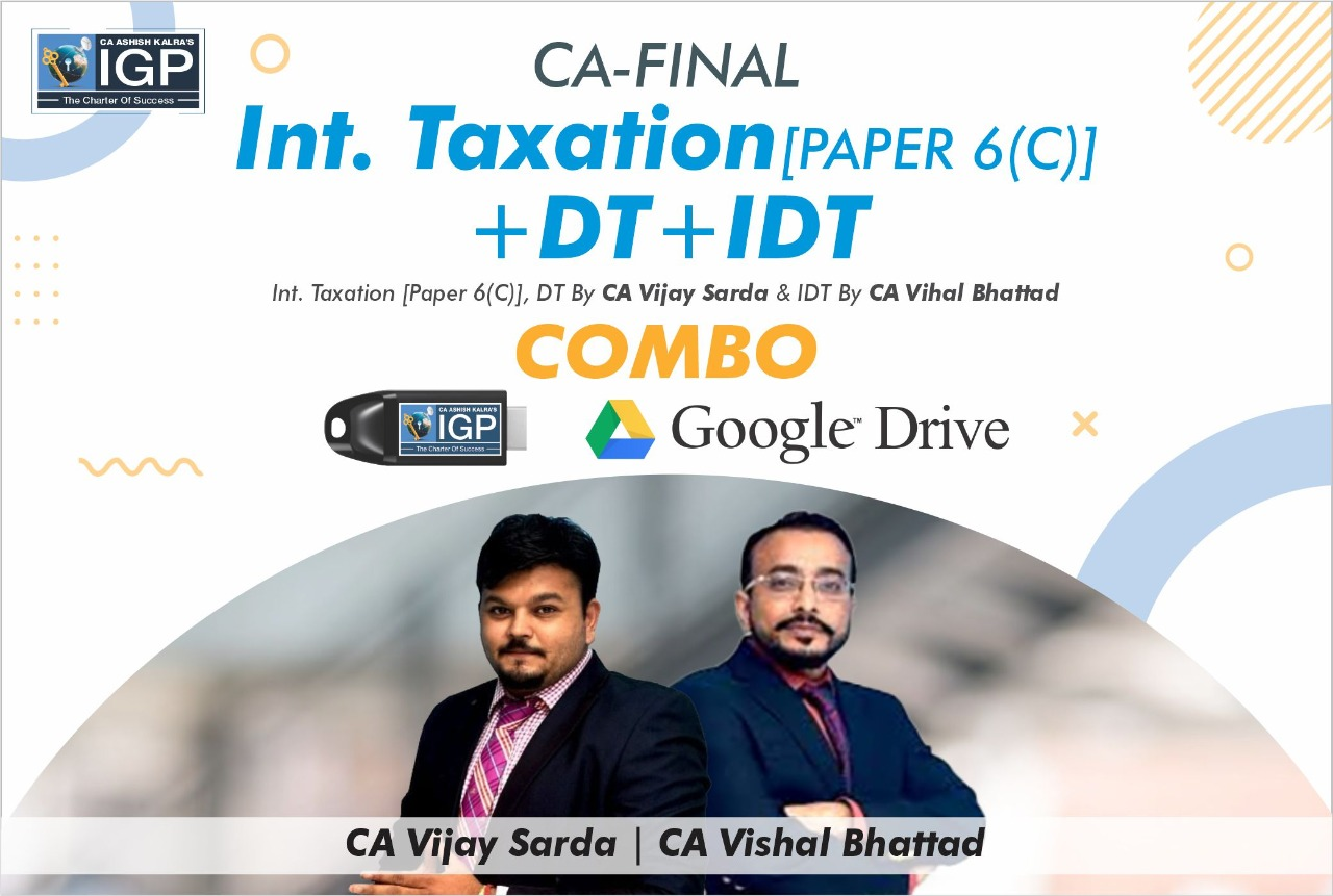 CA FINAL- DT+IDT+Int Tax Combo
