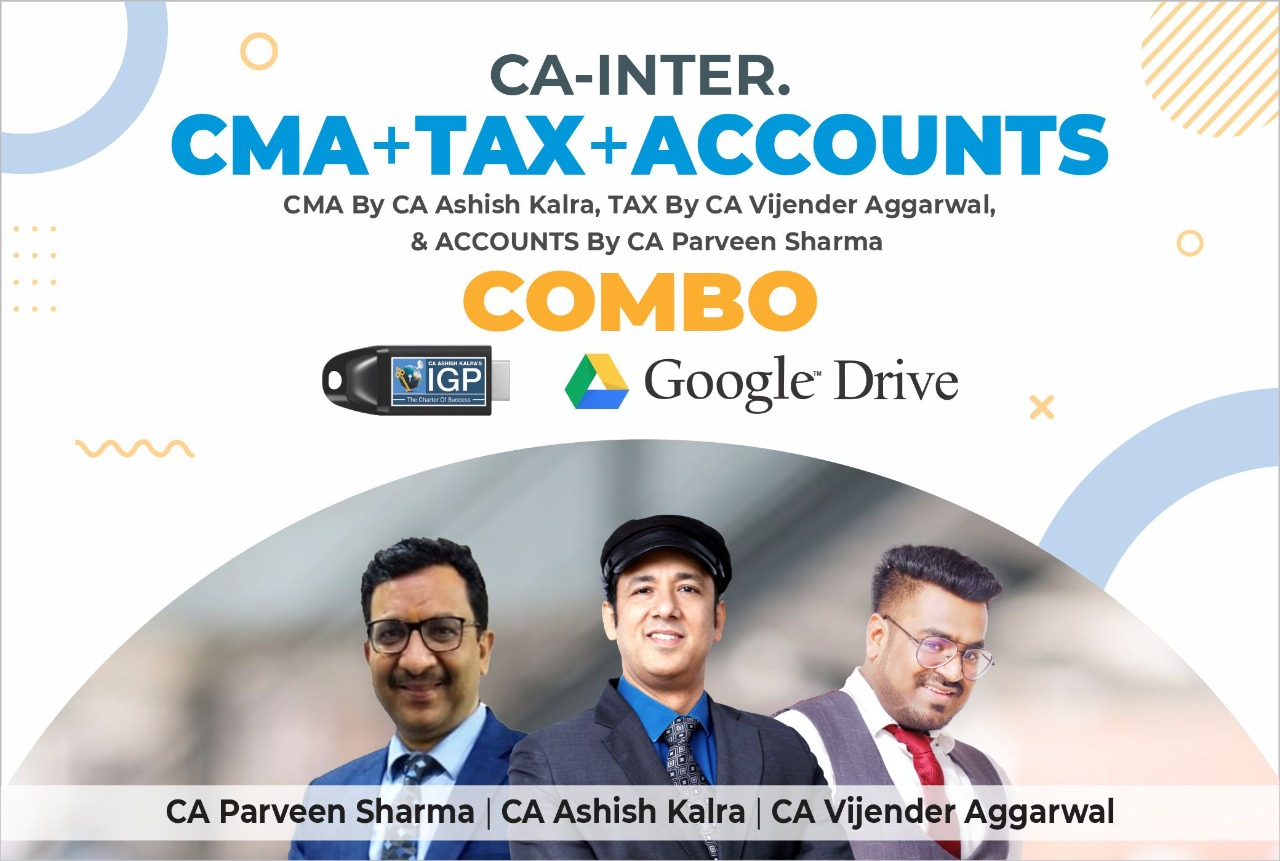 CA Inter CMA & TAX & ACCOUNT