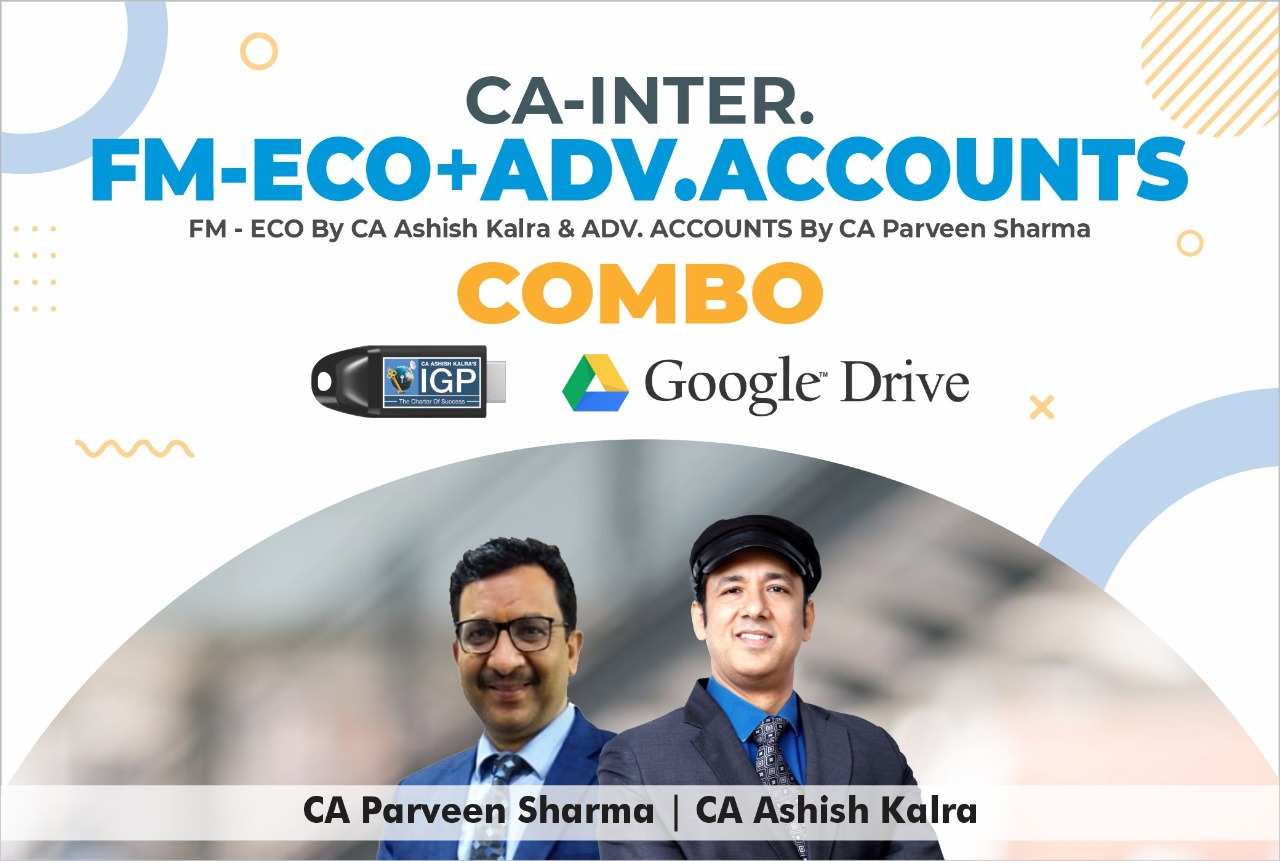 CA INTER - FM, ECO & ADV. ACCOUNTS COMBO